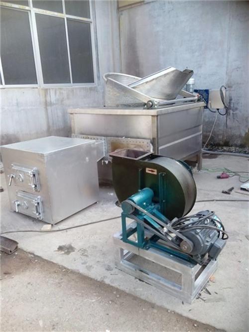 全自动带搅拌油炸机 燃油油炸机 连续油炸锅 油炸食品生产线