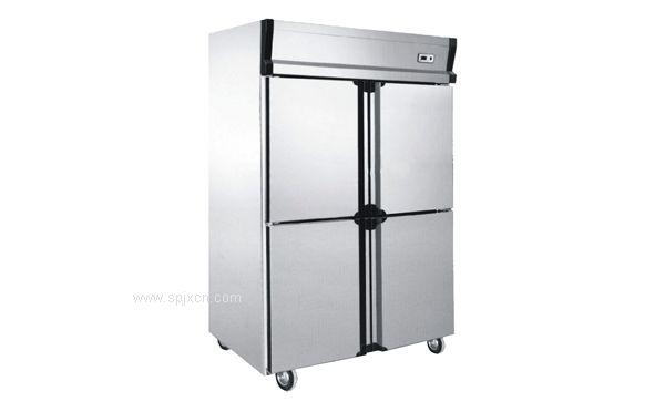厨房四门立式不锈钢门冷柜,安德利 0648 冷柜,环保节能,质量保障