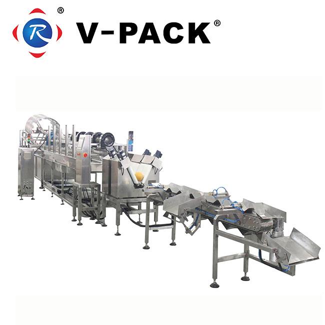 果蔬清洗消毒烘干包装生产线农产品多功能包装机