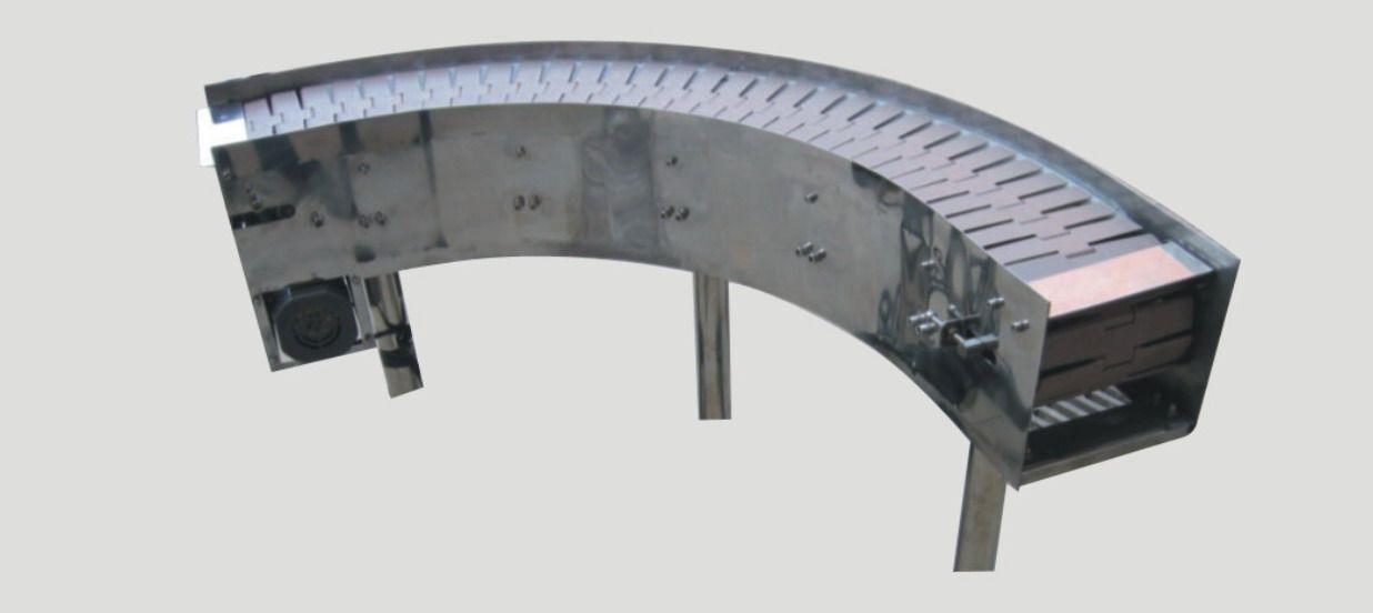转弯链板输送机-链板输送机